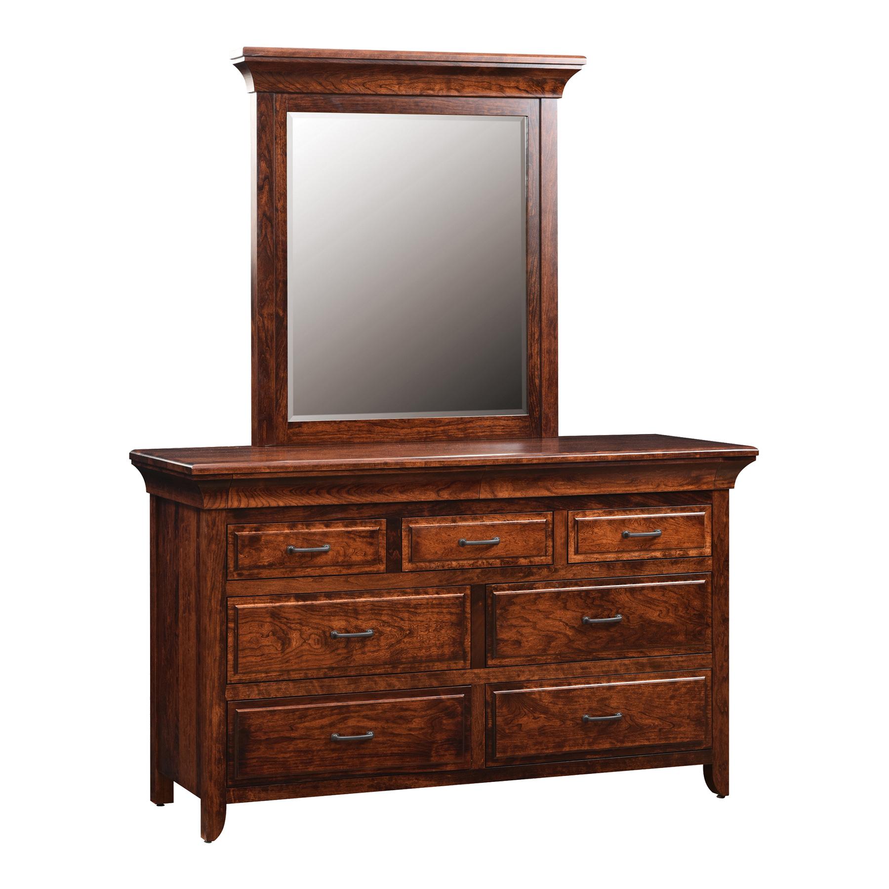 Low Dresser with Center Mirror