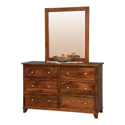 """56"""" Dresser with Center Mirror"""
