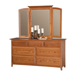 66 inch Drawer with Tri-View Mirror