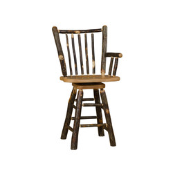 Stick Back Barstool with Arms