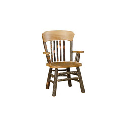 Panel Back Chair with Arms