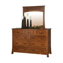Bridgeport Mule Dresser and Mirror