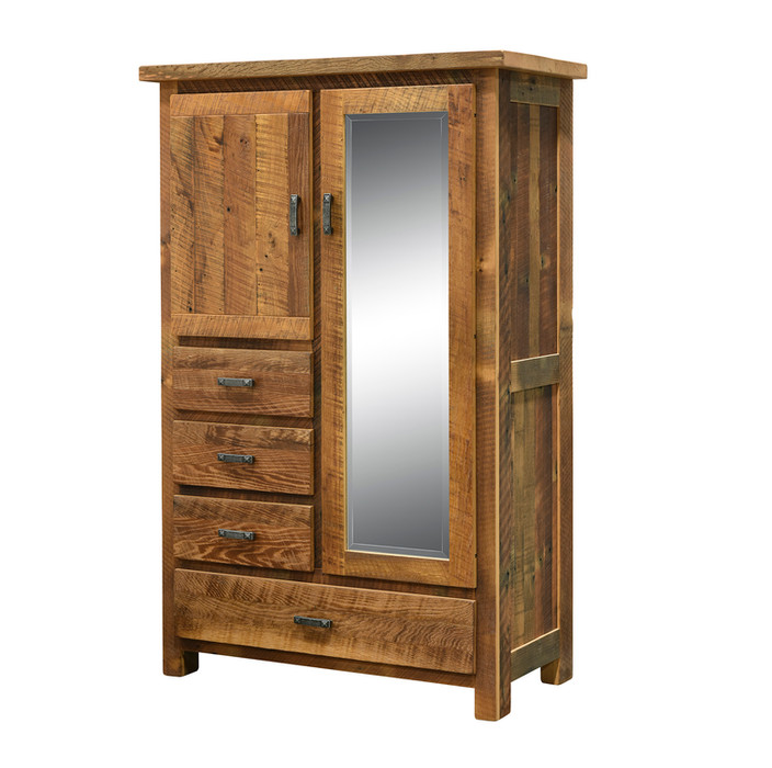 4-Drawer Armoire with Mirror
