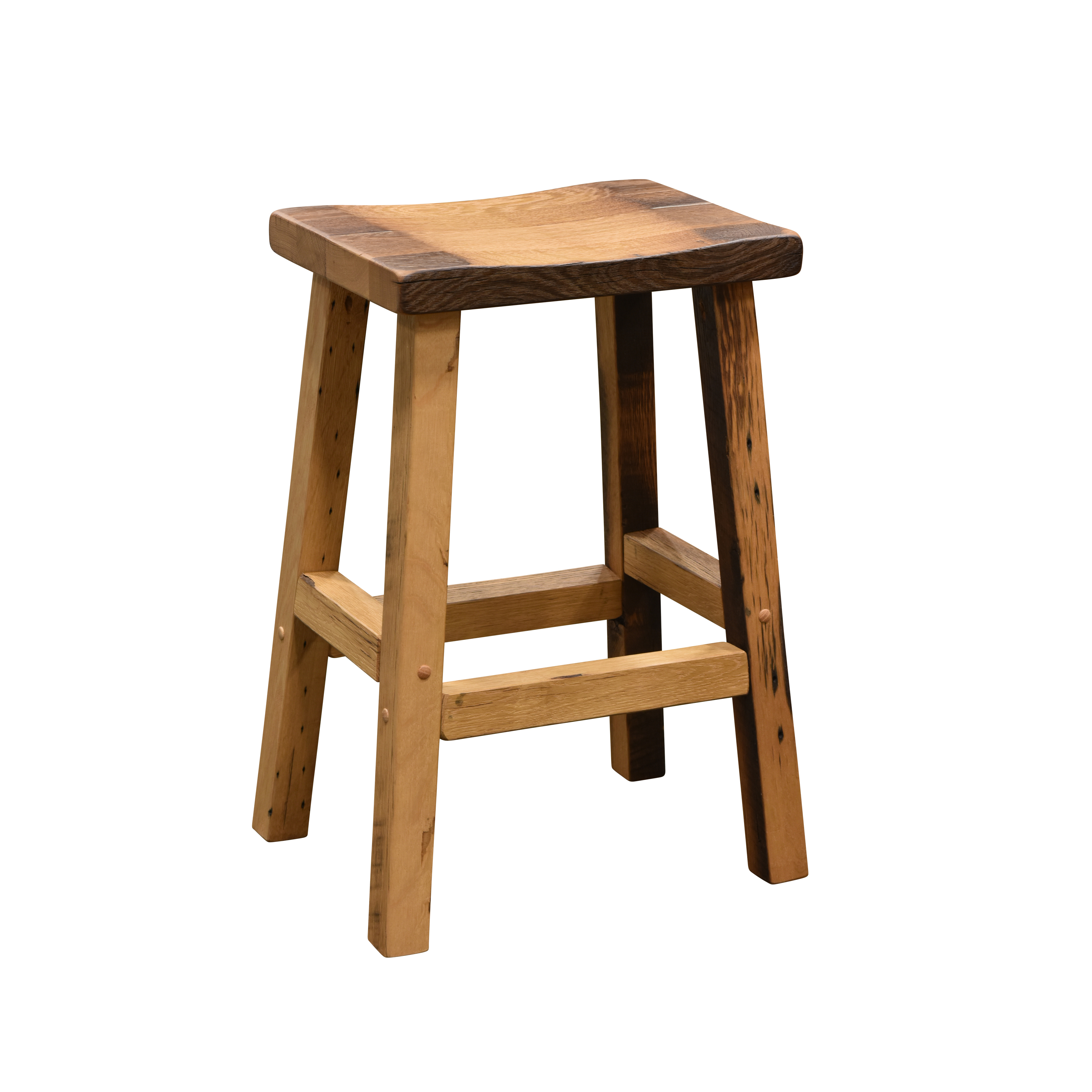 Bar Stool with Scooped Seat