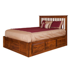 Shaker Spindle Bed w/ Underbed Dra