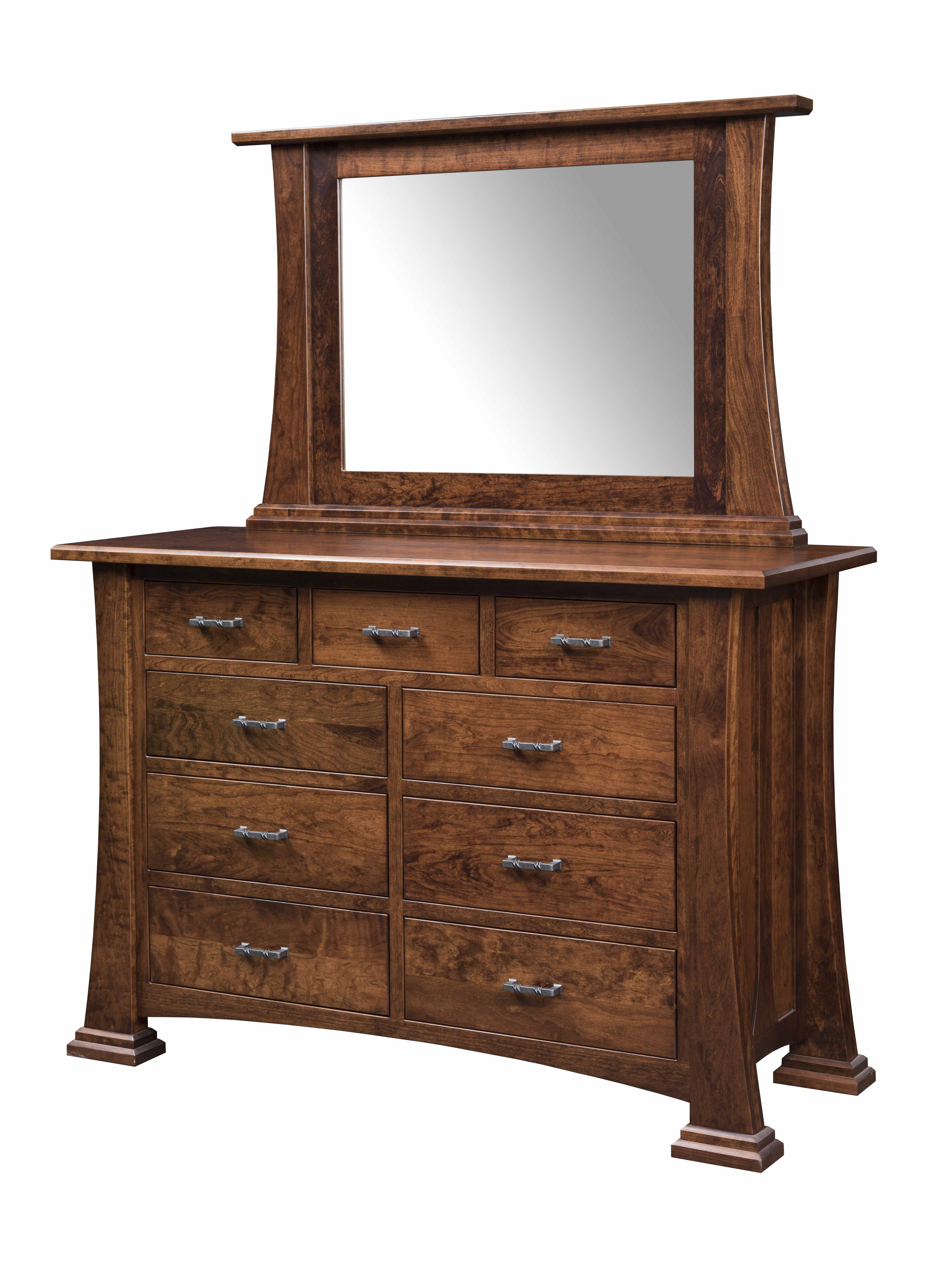 Caledonia Double Mule Dresser and Mirror