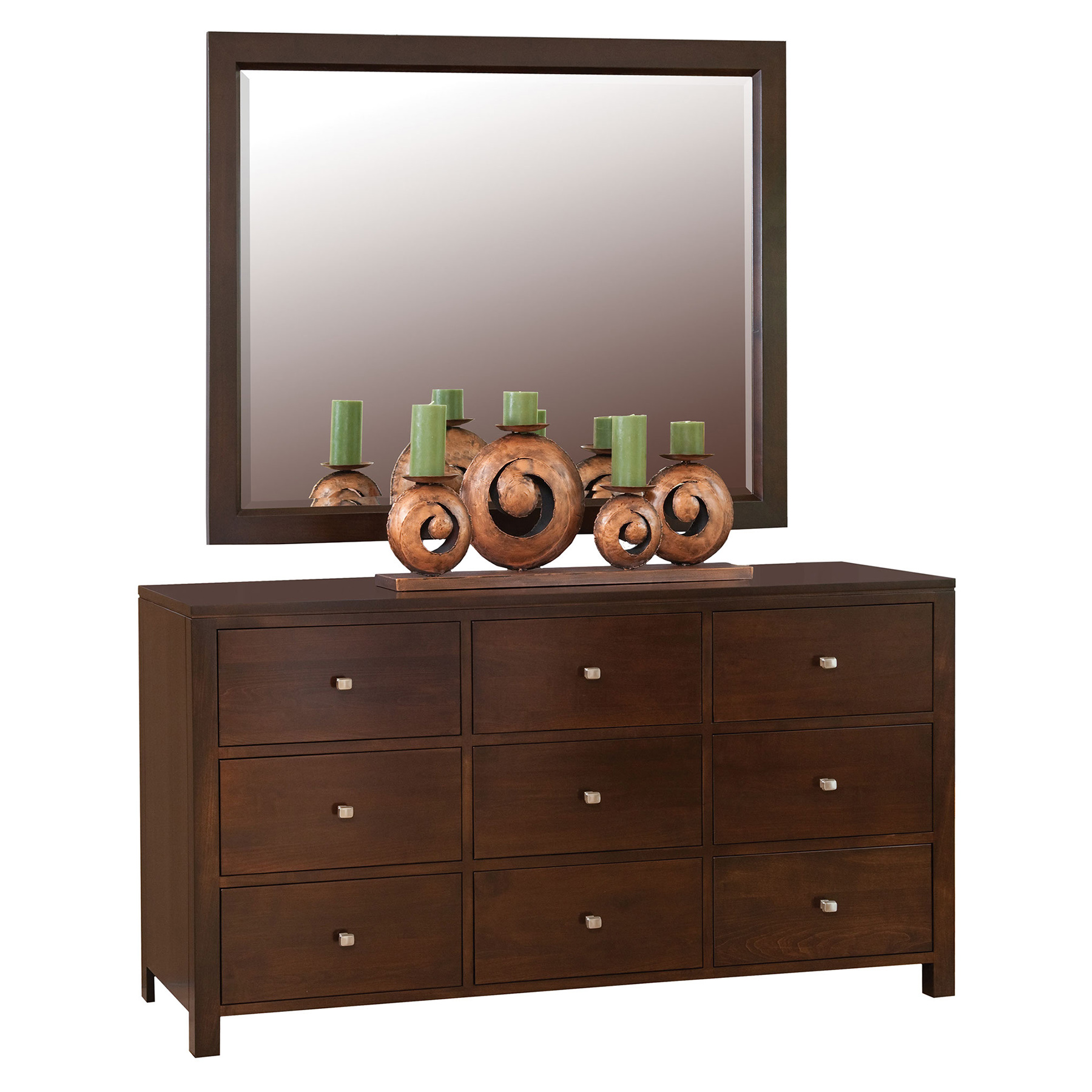 Dresser & Wall Mirror Beveled