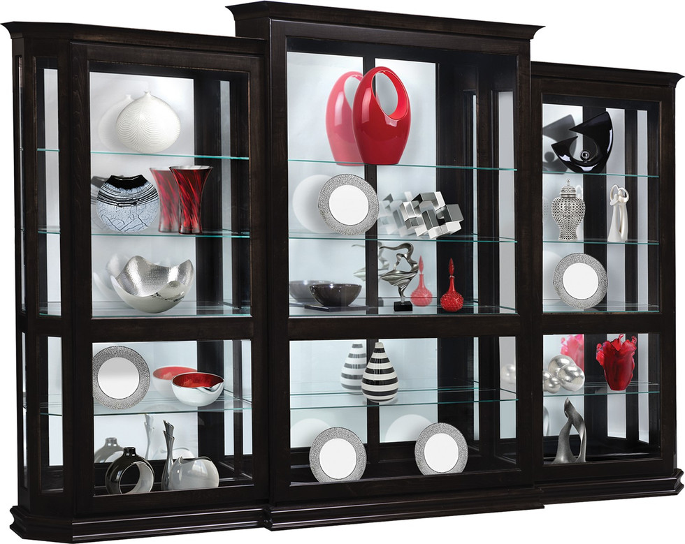Deluxe Sliding Door 3 Piece Set Curio