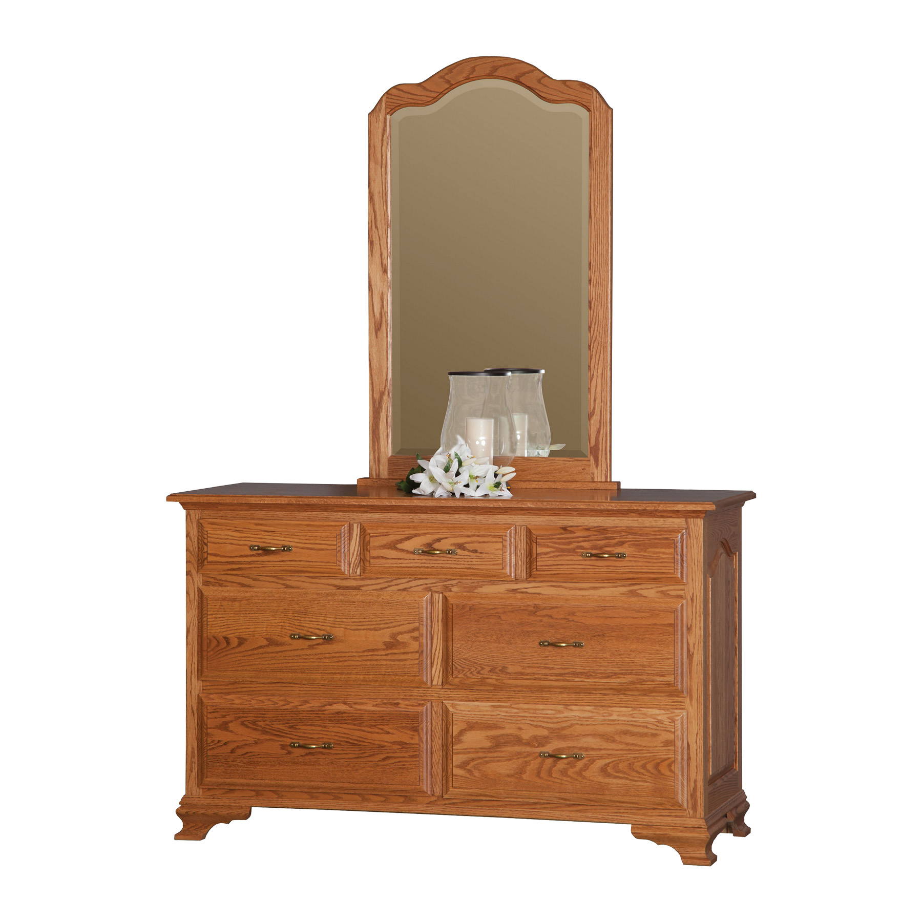 "56"" Dresser with Center Mirror"