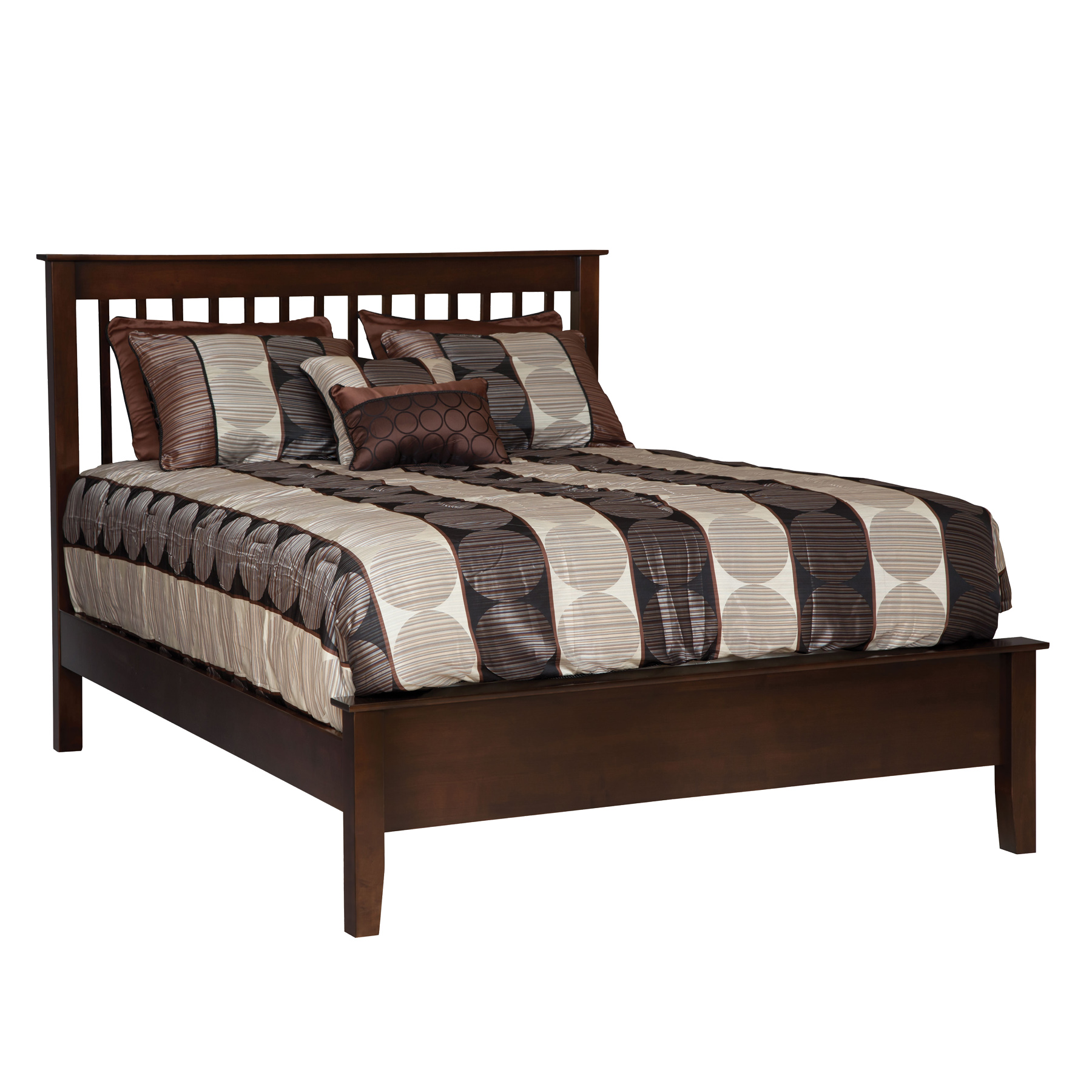 English Shaker Spindle Bed