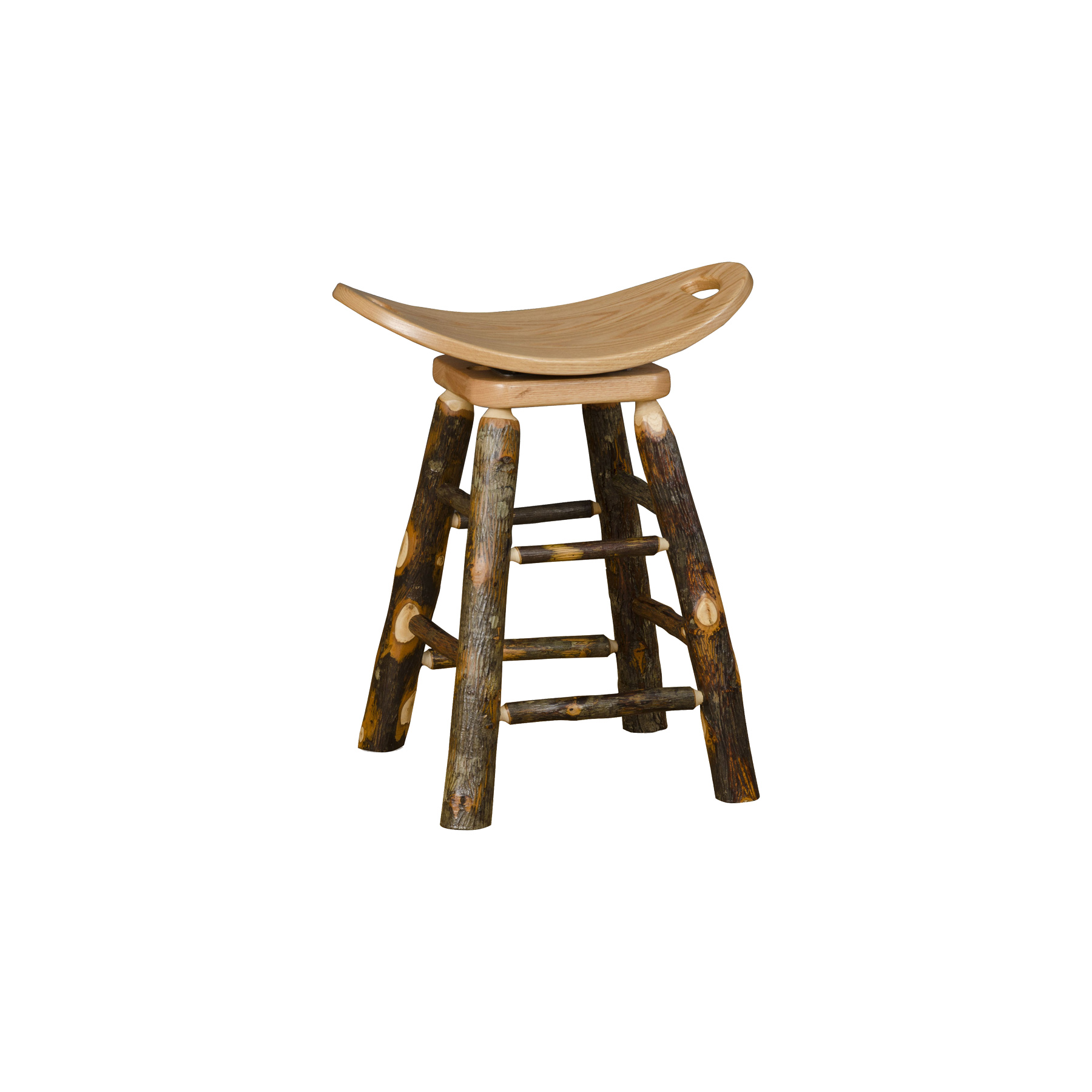 Saddle Stool with Swivel