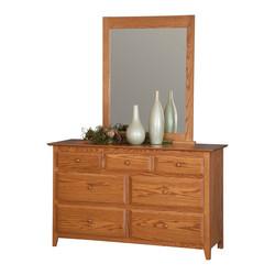56 inch Dresser with Shaker Mirror