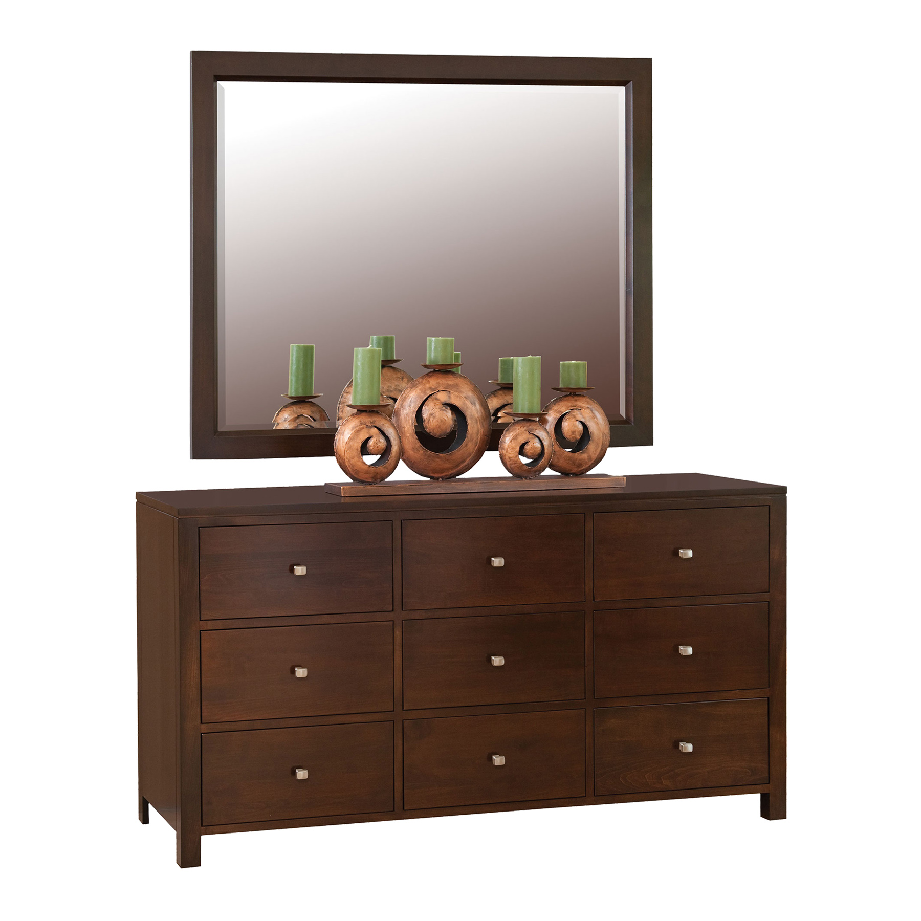 Dresser with Wall Mirror