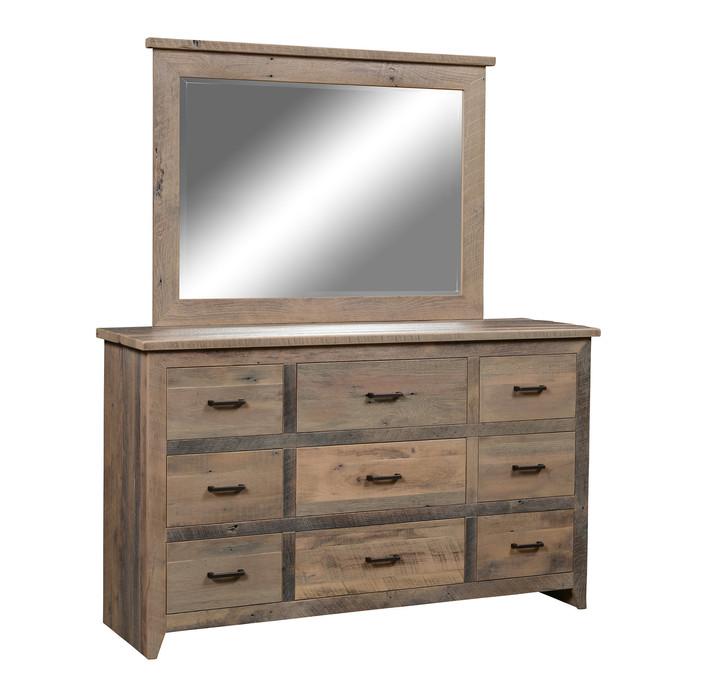 9-Drawer Dresser with Mirror