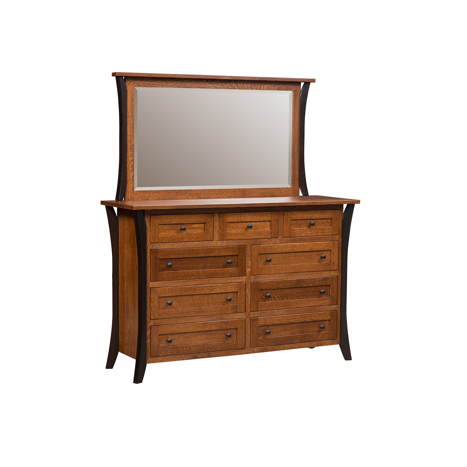 Double Mule Dresser and Mirror