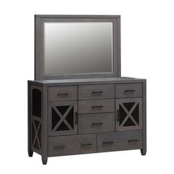 Nasua Double Dresser and Mirror