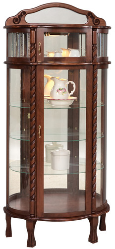 Bonnet Top with Leaded Glass Curio