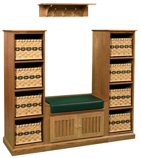 Basket Towers with Bench and Shelf