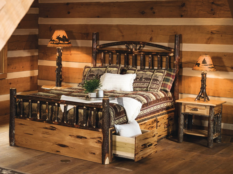 Hickory Wagon Wheel Bed