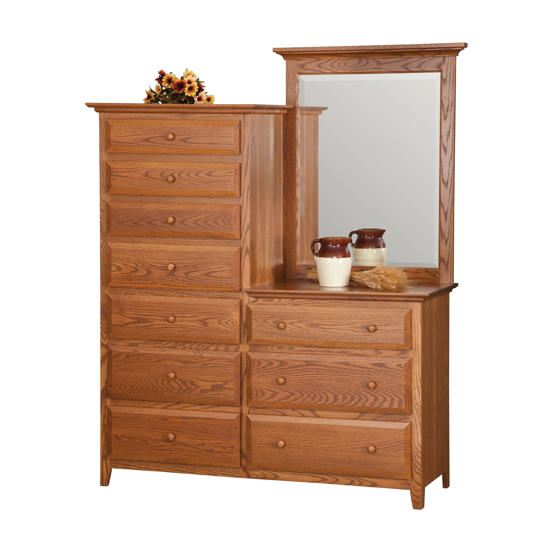 Dresser with Center Mirror