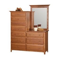Dresser with Center Mirror