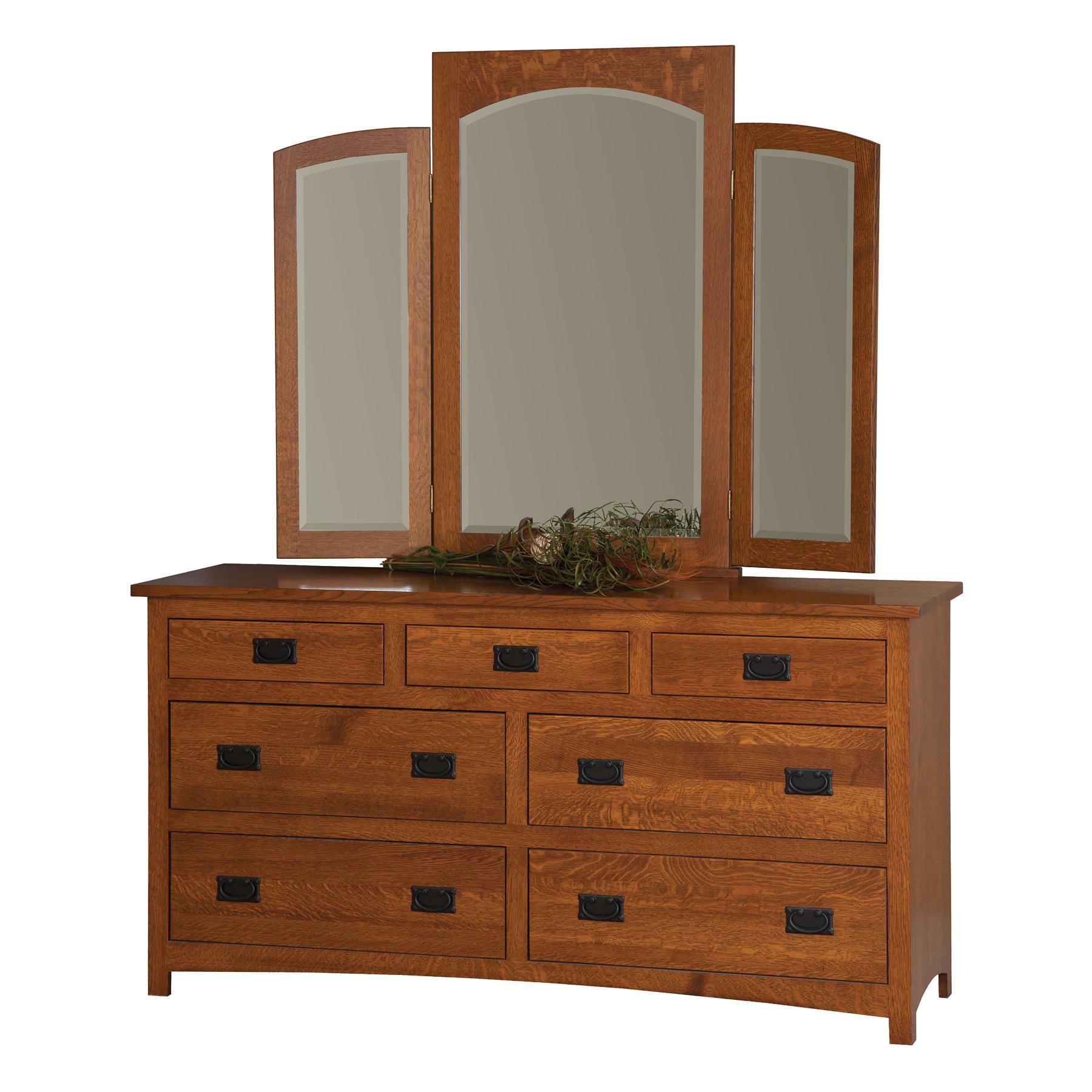 """66"""" Dresser with Tri-View Mirror"""
