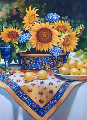Tuscan Still Life with Lemons