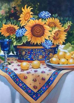 Tuscan Still Life with Lemons