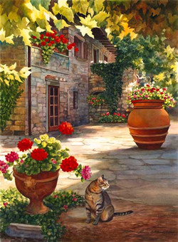 Tuscan Farmhouse - Giclee