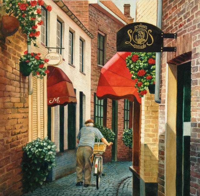 A-Street Scene Brugge 22x22