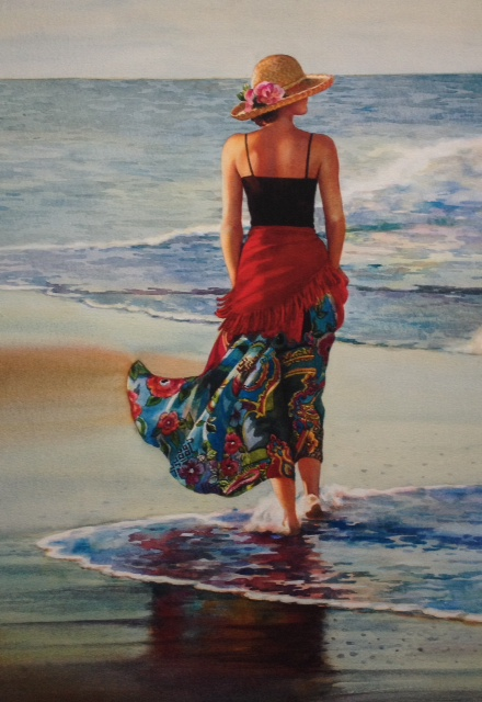 Megan at the Shore - Giclee