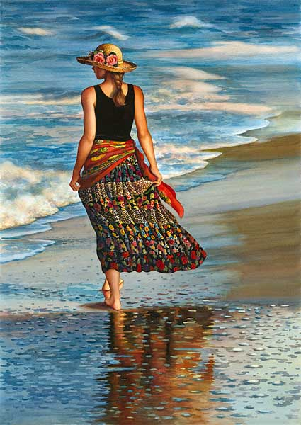 Erin at the Shore - Giclee