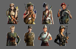 World of Tanks - Female Portraits