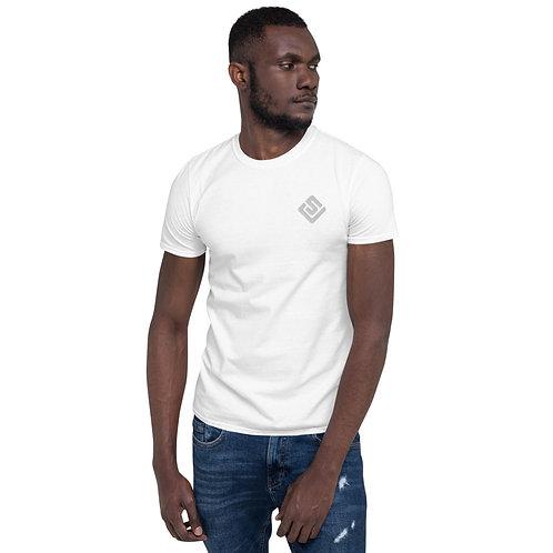 SJ Black/White Embroidered Short-Sleeve Unisex T-Shirt