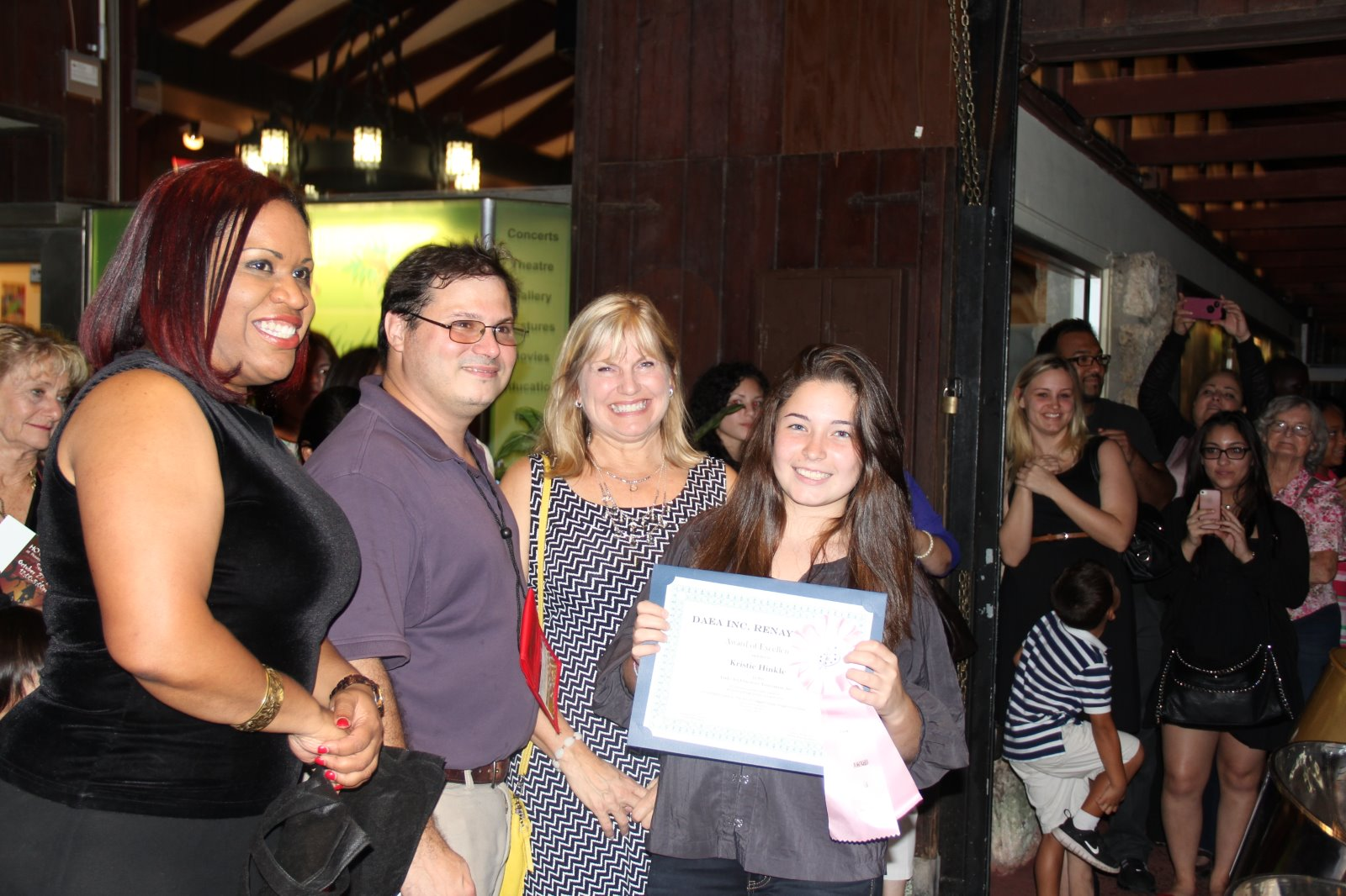 student Renay Rossy awards