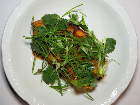 Sweet Potato with Nduja Vinaigrette