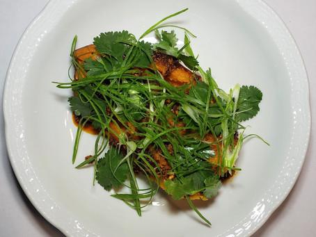 Sweet Potato with Nduja Vinaigrette