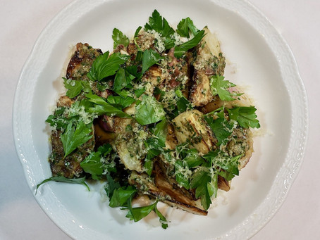 Roasted Turnips with Caper Raisin Vinaigrette