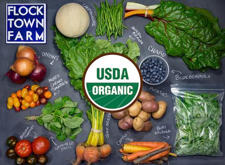 Farm Talk: We're Certified Organic!