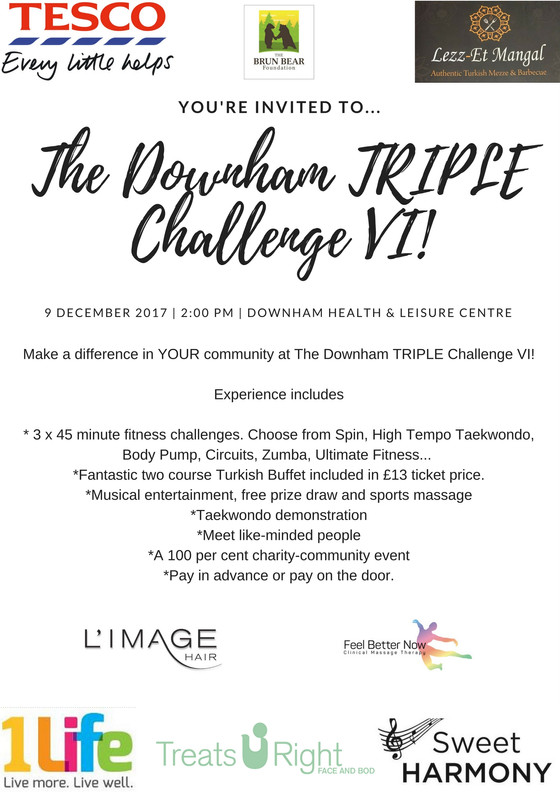 Make a difference at the Downham TRIPLE Challenge!
