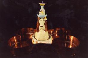 Dog Fountain With Bone Basin