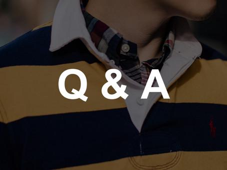 經典男裝 - 讀者 Q & A (2020. 7)