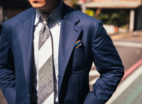 Navy Cotton Suit - 深藍棉套裝
