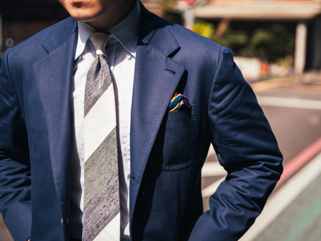 Navy Cotton Suit - 深藍棉套裝
