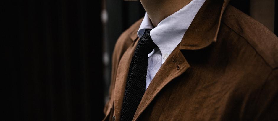 Black Knit Tie - 黑色針織領帶