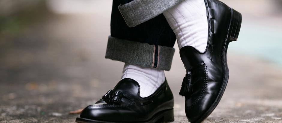 西裝穿搭 - 西裝配白襪?