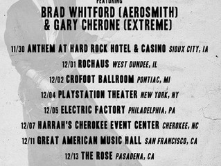 Joe Perry & Friends Feat. Gary Cherone  and Brad Whitford, Tour Dates
