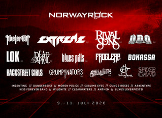 EXTREME to Headline NORWAYROCK FESTIVAL on July 10th in Kvinesdal, Norway