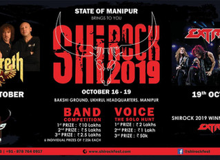 EXTREME in India at the ShiRock festival on October 19th in Ukhrul, Manipur