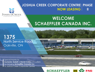 Joshua Creek Corporate Centre Welcomes Schaffler